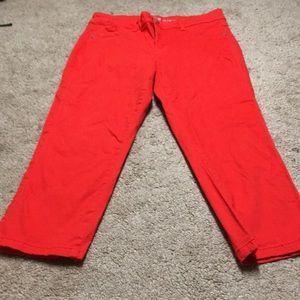 Denim - Orange Cropped legging